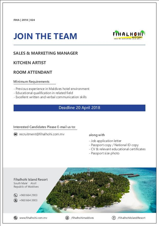 Kitchen Artist Jobs In South Male Atoll Maldives At