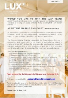 Assistant Marine Biologist