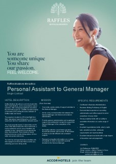 Personal Assistant to General Manager