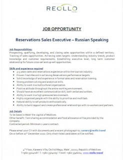 Reservation Sales Executive