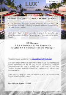 PR & Communications Executive
