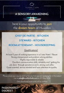 CHEF DE PARTIE – KITCHEN