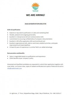Sales & Reservation Executive
