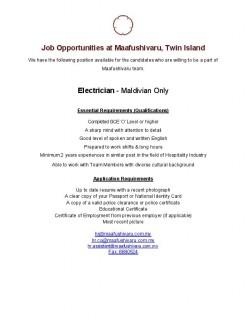 Electrician (Maldivian)